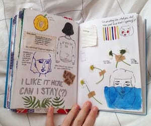 art, journal, and book image