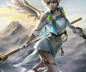 overwatch, angela ziegler, and winged victory mercy image