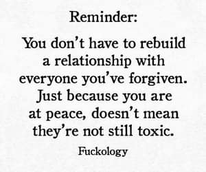 forgiveness, at peace, and toxic relationship image