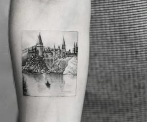 tattoo, hogwarts, and castle image