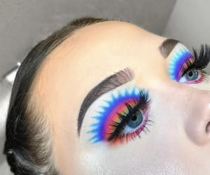 colorful, eyebrows, and eyes image