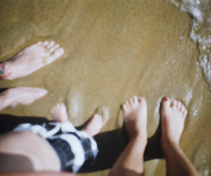 35mm, beach, and love image