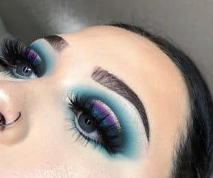 beautiful, blue eyes, and eyebrows image