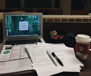 coffee, finals, and handwriting image