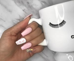 glam, glitter, and nails image