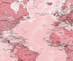 pink, map, and world image