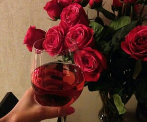 rose, red, and wine image