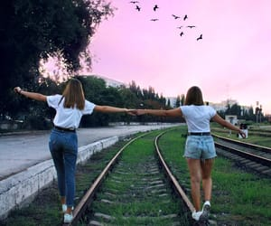 aesthetic, friendship, and railway image