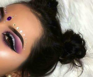 eye makeup, fashion, and eye brows image
