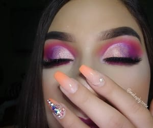 beauty, nails, and selfie image