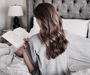 hair, book, and hairstyle image