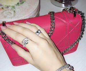 bag, diamonds, and dior image