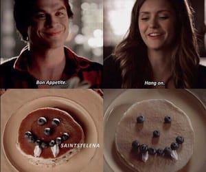 damon, elena, and pancake image