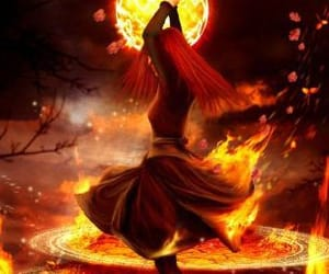 fire magic and goddess of fire image