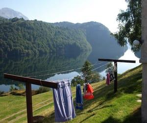 clothes, green, and lake image