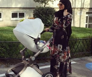 baby, fashion, and hijab image