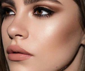 bronze, eyelashes, and eyeshadow image