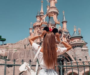 backpack, castle, and disney image