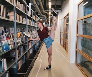 arabesque, library, and ballet image