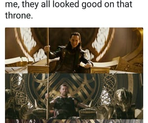 Marvel, movie, and throne image