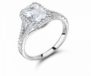 diamond engagement ring, loose diamonds, and gia certified image