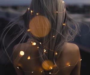 light, girl, and hair image