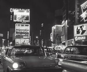 black & white, city lights, and monochrome image