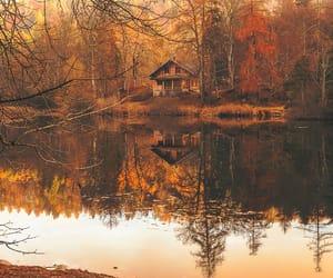 autumn, beautiful, and cottage image