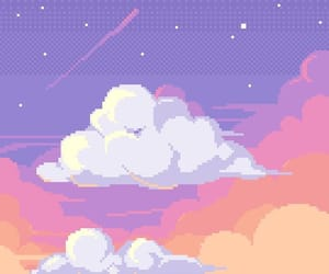 clouds, aesthetic, and pixel image