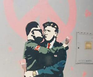 art, graffiti, and war image