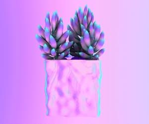 crazy, plant, and vaporwave image
