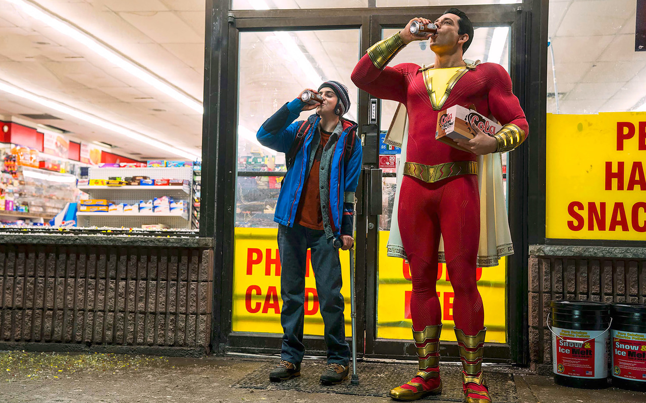 Zachary Levi And Asher Angel In Shazam Movie Hd Wallpaper