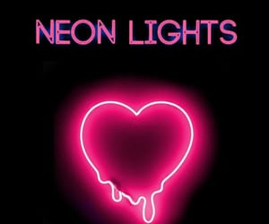 black, heart, and neon image