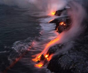 nature, fire, and lava image