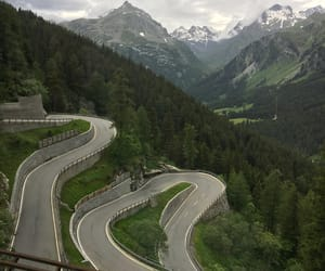 Alps, roads, and swiss image