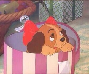 disney, lady and the tramp, and puppy image