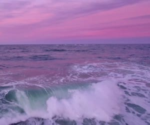 purple, ocean, and sea image