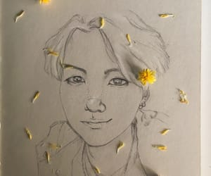 cookie, draw, and flowers image