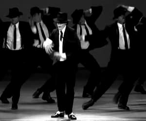 black and white, dancer, and icon image