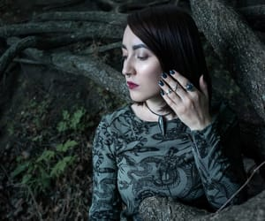forest, green, and vamp image
