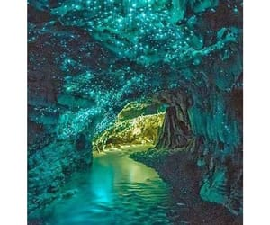 beautiful, blue, and cave image
