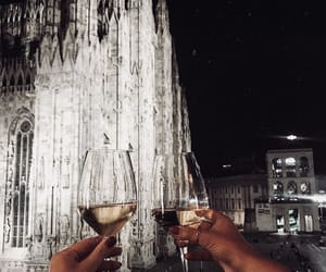 drinks, italy, and night image
