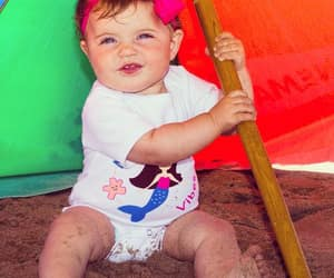 baby, baby clothes, and beach baby image