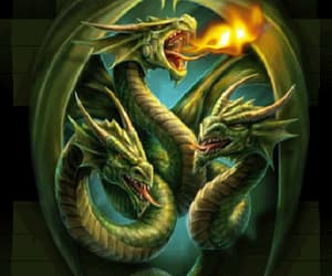 art, breathing, and dragons image