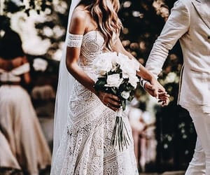 aisle, boho, and bride image