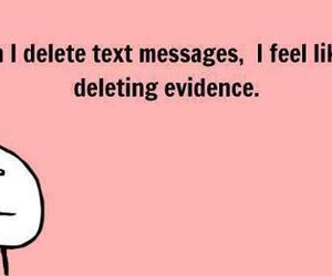 message, text, and Evidence image