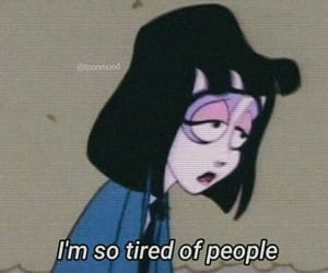 tired, quotes, and cartoon image