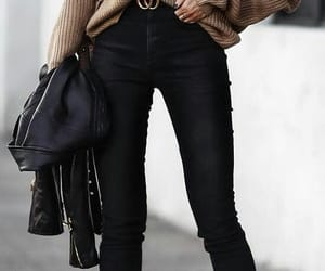 black, gucci, and jeans image