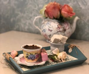 coffe, food, and rose image