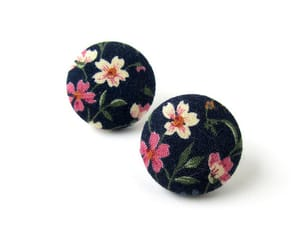 earrings, etsy, and floral image